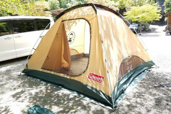 コールマン タフワイドドーム300EX Ⅲ スタートパッケージ -Coleman Tough Wide Dome 300EX III Start Package- テントを建てる