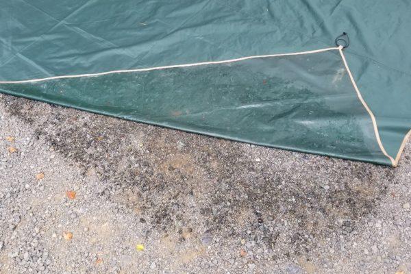 コールマン タフワイドドーム300EX Ⅲ スタートパッケージ -Coleman Tough Wide Dome 300EX III Start Package- グランドシートの湿気