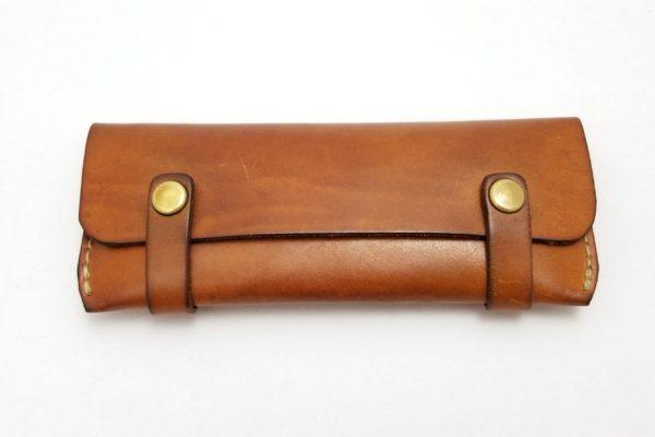 ヘルツ うすマチタイプのペンケース-HERZ LEATHER PENCIL CASE -KP-29- かばんの様なペンケース