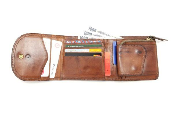 コルボ スレート 三ツ折財布(CORBO SLATE WALLET 8LC-9364)-カード収納